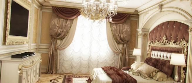 Роскошные спальни в классическом стиле